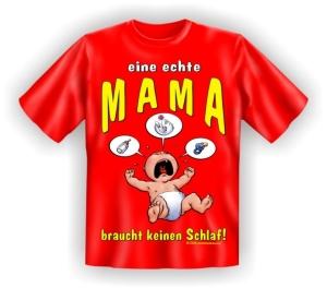 Fun Shirt MAMA keinen Schlaf Mutter Mom T-Shirt (Größe:: S (42/44))