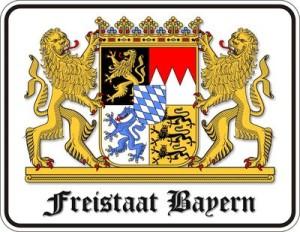 Blechschild Freistaat Bayern Ludwig König Schloss Spruch