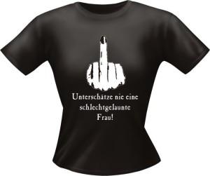 T-Shirt Lady Girlie schlechtgelaunt PARTY Shirt Spruch witzig Fun (Größe:: L)