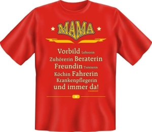 Fun Shirt MAMA VORBILD BERATERIN Mutter Mom T-Shirt (Größe:: S (42/44))