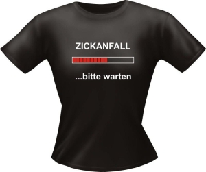 T-Shirt Lady Girlie ZICKANFALL PARTY Shirt Spruch witzig Fun (Größe:: L)