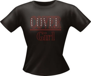 T-Shirt Lady Girlie COVER GIRL PARTY Shirt Spruch witzig Fun (Größe:: L)