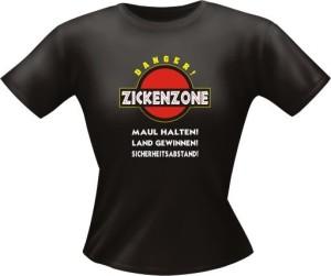 T-Shirt Lady Girlie ZICKENZONE PARTY Shirt Spruch witzig Fun (Größe:: L)