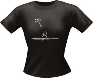 T-Shirt Lady Girlie kann Karate PARTY Shirt Spruch witzig Fun (Größe:: L)