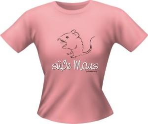 T-Shirt Lady Girlie süße Maus PARTY Shirt Spruch witzig Fun (Größe:: L)