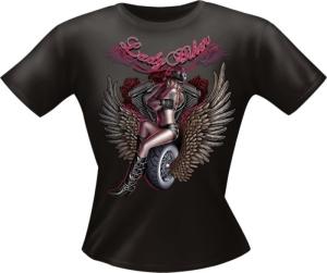 T-Shirt Lady BIKER Girlie PARTY Shirt Spruch witzig Fun (Größe:: L)