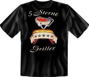 Fun Shirt 5 STERNE GRILLER grillen T-Shirt Spruch (Größe:: L (50/52))