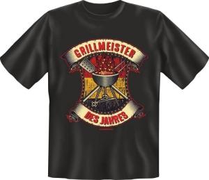 Fun Shirt GRILLMEISTER DES JAHRES T-Shirt Spruch (Größe:: L (50/52))