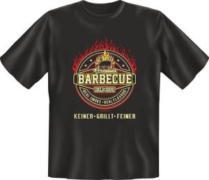 Fun Shirt BARBECUE KEINER GRILLT FEINER T-Shirt Spruch (Größe:: L (50/52))