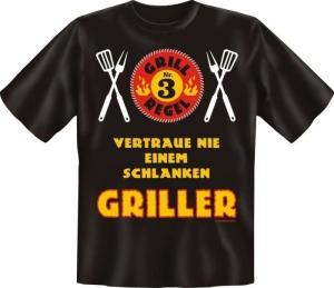 Fun Shirt GRILL REGEL Nr 3 T-Shirt Spruch (Größe:: L (50/52))