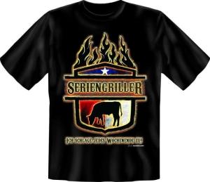 Fun Shirt GRILL PARTY SERIENGRILLER grillen T-Shirt Spruch (Größe:: L (50/52))