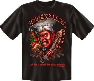 Fun Shirt  TEULELSGRILLER grillen GRILL PARTY T-Shirt Spruch (Größe:: L (50/52))