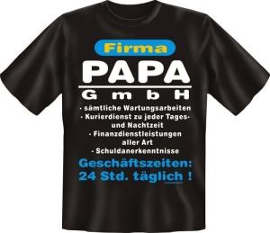 Fun Shirt FIRMA PAPA GMBH Vater DAD T-Shirt Spruch (Größe:: M (46/48))