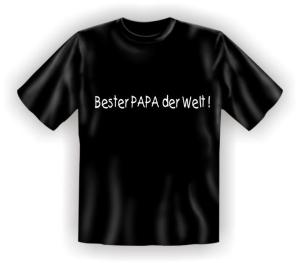 Fun Shirt BESTER PAPA DER WELT Vater Dad T-Shirt Spruch witzig Geschenk (Größe:: S (42/44))