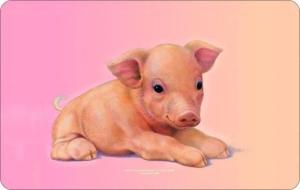 Frühstücksbrettchen Schwein Schneidebrett / Brettchen aus Resopal, Kult