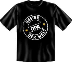 Fun Shirt BESTER OPA DER WELT Großvater T-Shirt Spruch witzig Geschenk Party (Größe:: S (42/44))
