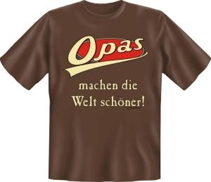 Fun Shirt OPA WELT schöner Großvater T-Shirt Spruch (Größe:: S (42/44))