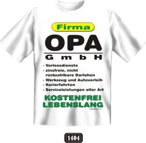 Fun Shirt FIRMA OPA GMBH Großvater T-Shirt Spruch witzig Geschenk Party (Größe:: S (42/44))