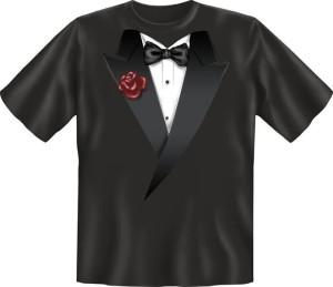 T-Shirt FLIEGE SCHWARZ ROSE (Größe:: XXL (56))