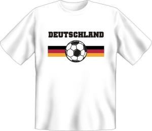 T-Shirt Deutschland Fussball Ball (Größe:: S (42/44))