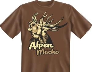 T-Shirt ALPEN MACHO Hirsch (Größe:: S (42/44))
