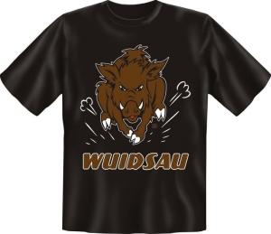T-Shirt WUIDSAU WILDSAU WILDSCHWEIN (Größe:: S (42/44))