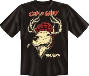 T-Shirt OIS IS EASY Hirsch (Größe:: S (42/44))