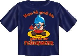 T-Shirt Baby Wenn ich groß bin gehe ich zur Feuerwehr (Größe:: 56-62)