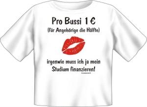 T-Shirt Baby BUSSI KUSS 1 EURO (Größe:: 56-62)
