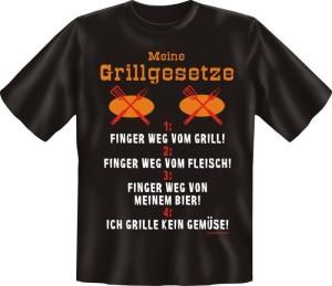 Fun Shirt Meine Grillgesetze Grillen Grill T-Shirt Spruch Grillparty (Größe:: S (42/44))