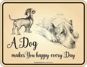 Magnet Kühlschrankmagnet A DOG MAKES YOU HAPPY EVERY DAY