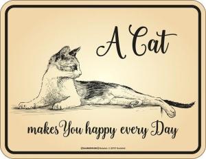 Magnet Kühlschrankmagnet A CAT MAKES YOU HAPPY EVERY DAY