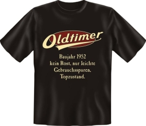 T-Shirt Oldtimer Baujahr 1952 Geburtsjahr Geburtstag Jahrgang Shirt Geschenk (Größe:: M (46/48))