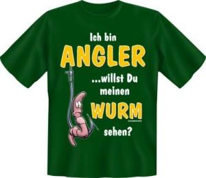 T-Shirt Angeln Ich bin Angler Fun Shirt Sprüche Fisch Angelgott Petri Heil Geschenk (Größe:: S (42/44))