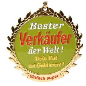 Orden Medaille Bester Verkäufer der Welt