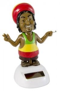 Solar Wackel Puppe Figur Rastafari