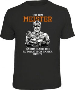 T-Shirt ICH BIN MEISTER (Größe:: S (42/44))