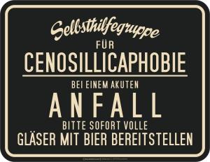 Blechschild BEI EINEM ANFALL BIER