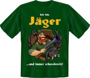 T-Shirt JÄGER IMMER SCHUSSBEREIT (Größe:: XXL (56))