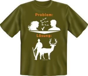 T-Shirt PROBLEM LÖSUNG JAGEN JÄGER (Größe:: XXL (56))