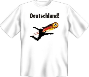 T-Shirt Deutschland Fussball Ball Flagge (Größe:: S (42/44))