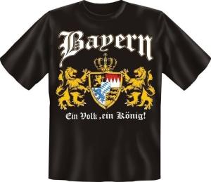 T-Shirt BAYERN EIN VOLK EIN KÖNIG (Größe:: S (42/44))