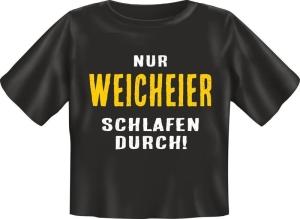 T-Shirt Baby NUR WEICHEIER SCHLAFEN DURCH (Größe:: 56-62)