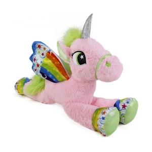 Plüsch Einhorn mit Flügeln rosa Kuscheltier 105 cm Unicorn