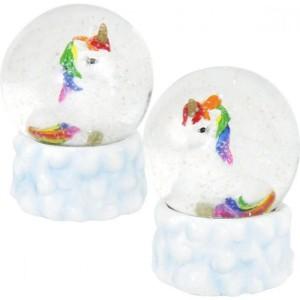 Schneekugel Einhorn Glitterkugel Schüttelkugel Unicorn
