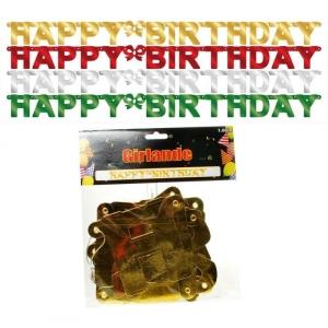 Girlande Happy Birthday Geburtstag Party Deko 1,65m