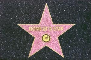 Fussmatte HOME OF A STAR  Türvorleger Fußabtreter