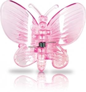 Clips für Orchideen, 6 Stück im Blisterpack, Schmetterling pink