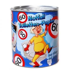 Toilettenpapier 60. Geburtstag in Dose WC Klopapier 60 Jahre Geschenk