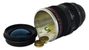 Kamera Objektiv Tresor Geheimversteck